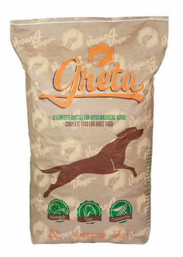 Greta dry complete vegan dog food