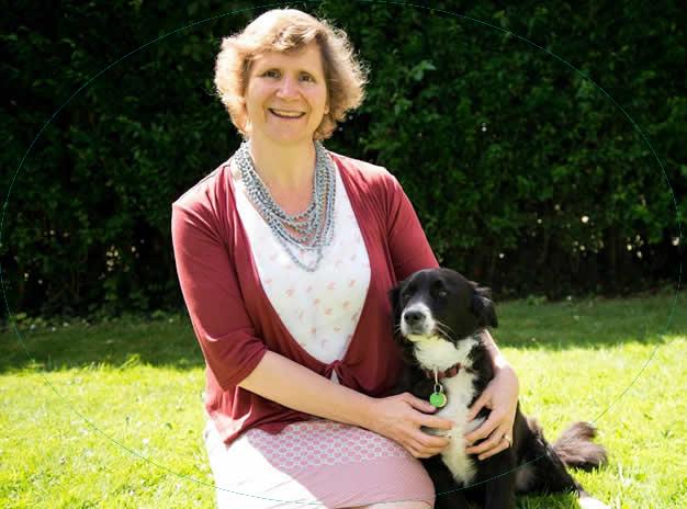 Vegan vet Arielle with plant-based dog Ruff
