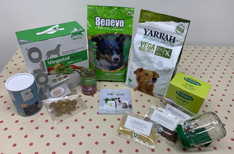 Green Paws Challenge includes Solo-Vegetal, Benevo Organic, Yarrah Organic Wheat Free, Lily's Kitchen Rainbow Stew, VegDog All-In-Veluxe supplement, high nutrient homemade treats, sprouting jar + sprouts